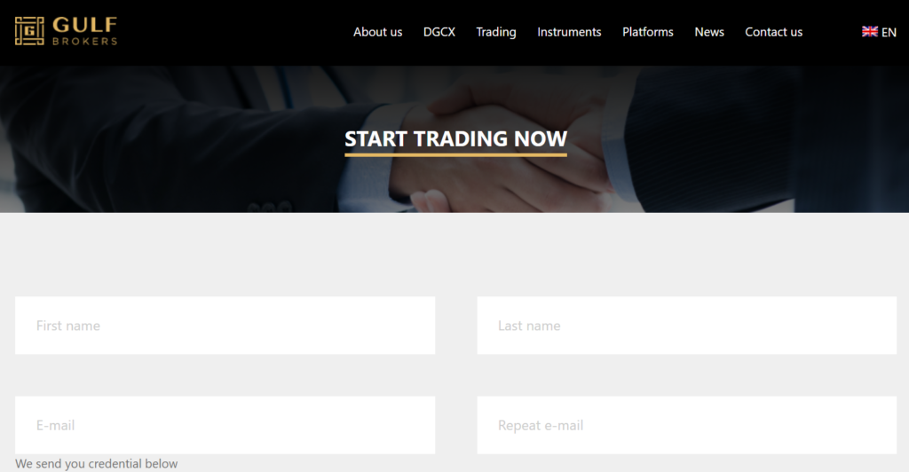 Trading with Gulf Brokers DMCC is easy
