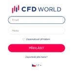 přihlášení k účtu CFDworld