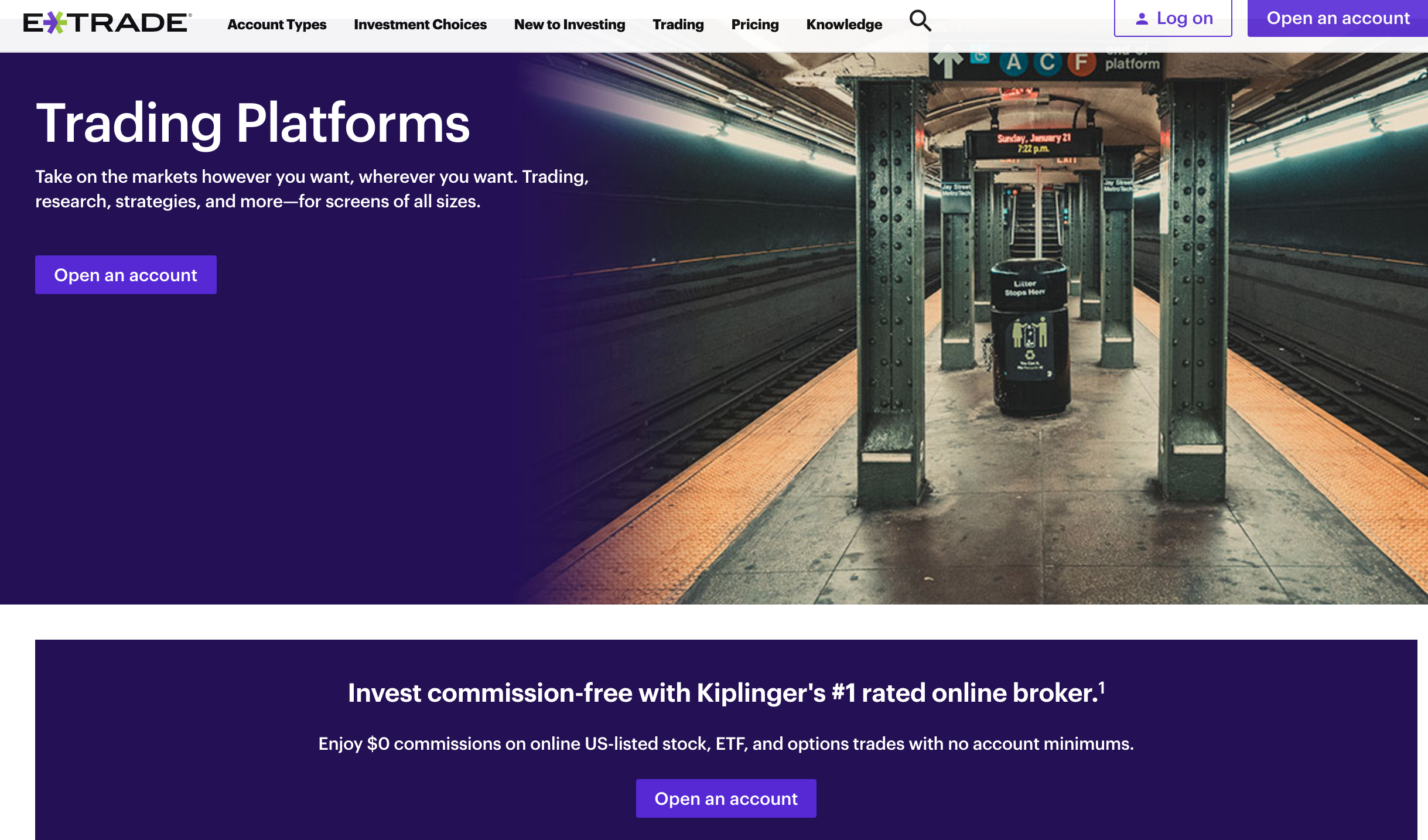 E*Trade trading platforms