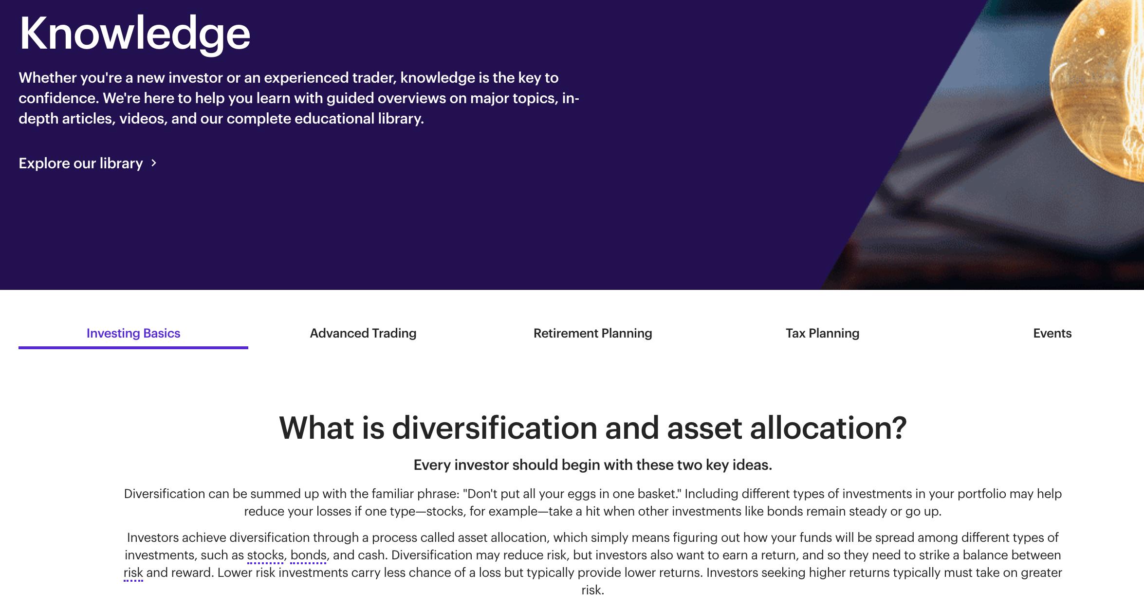E*Trader education