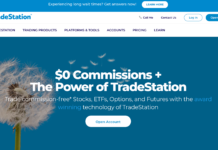 TradeStation homepage