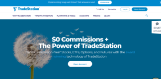 TradeStation homepage