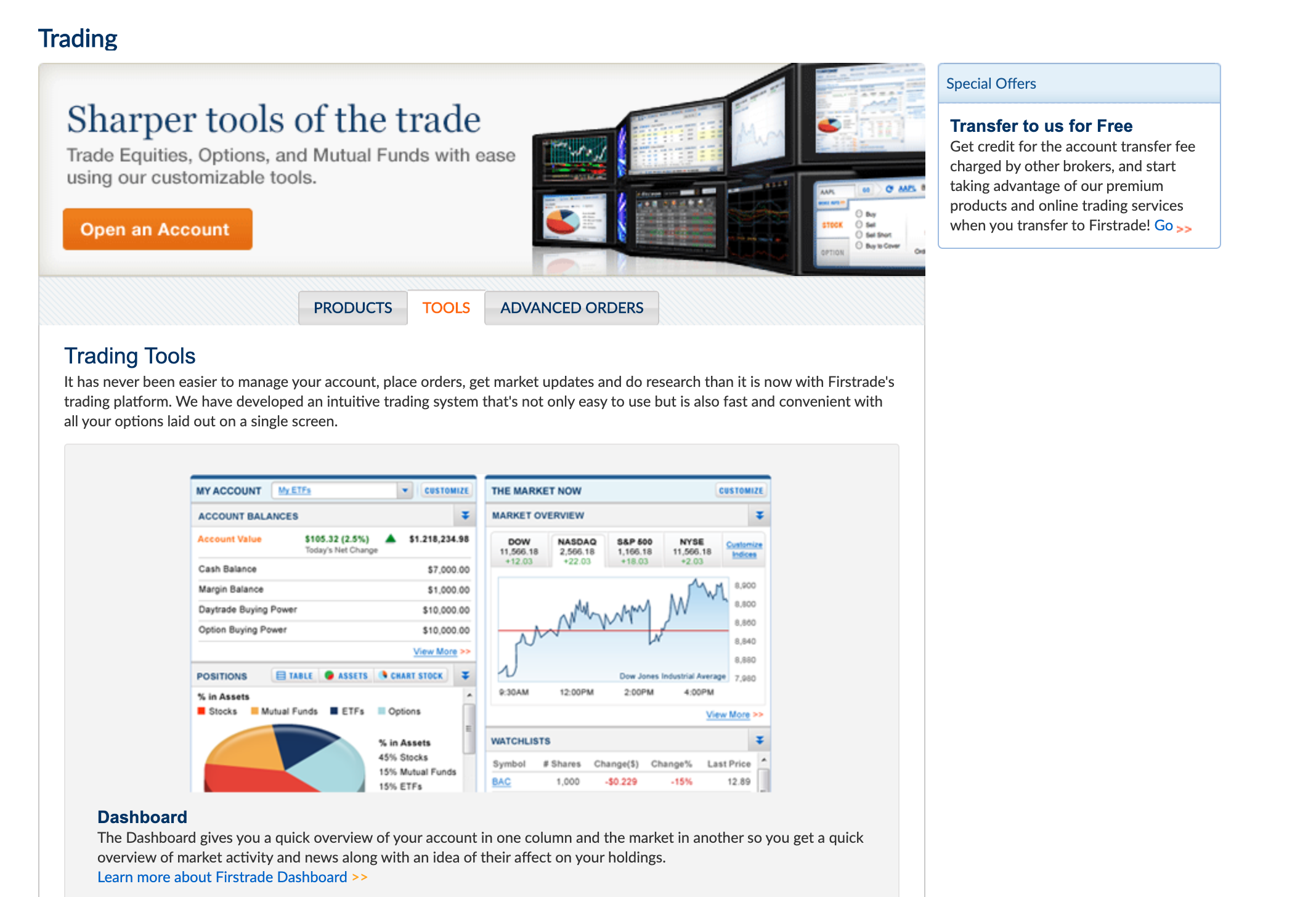 Firstrade trading tools