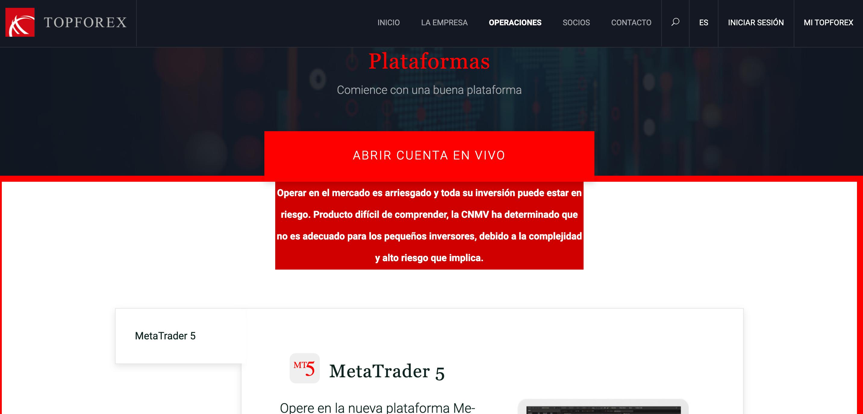 TopForex plataformas