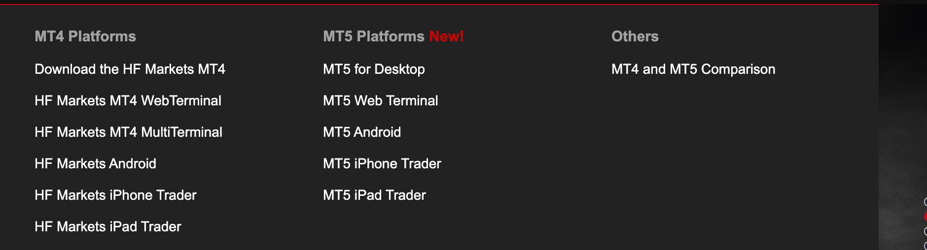 HF platforms