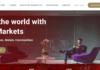 Juno Markets homepage
