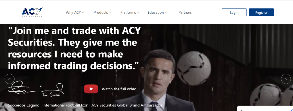 ACY securites website