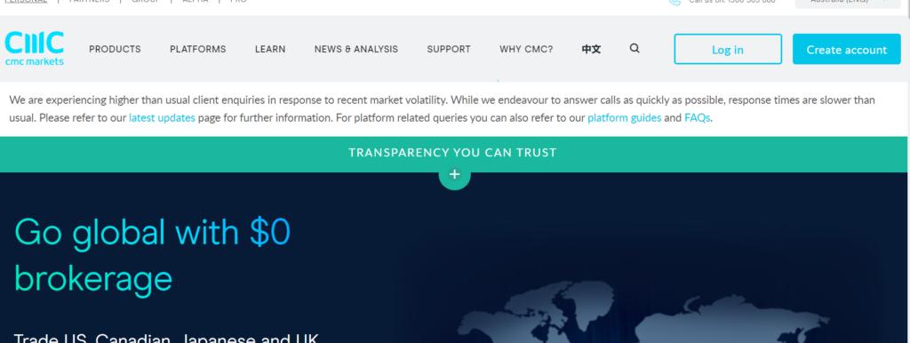 CMC Markets web