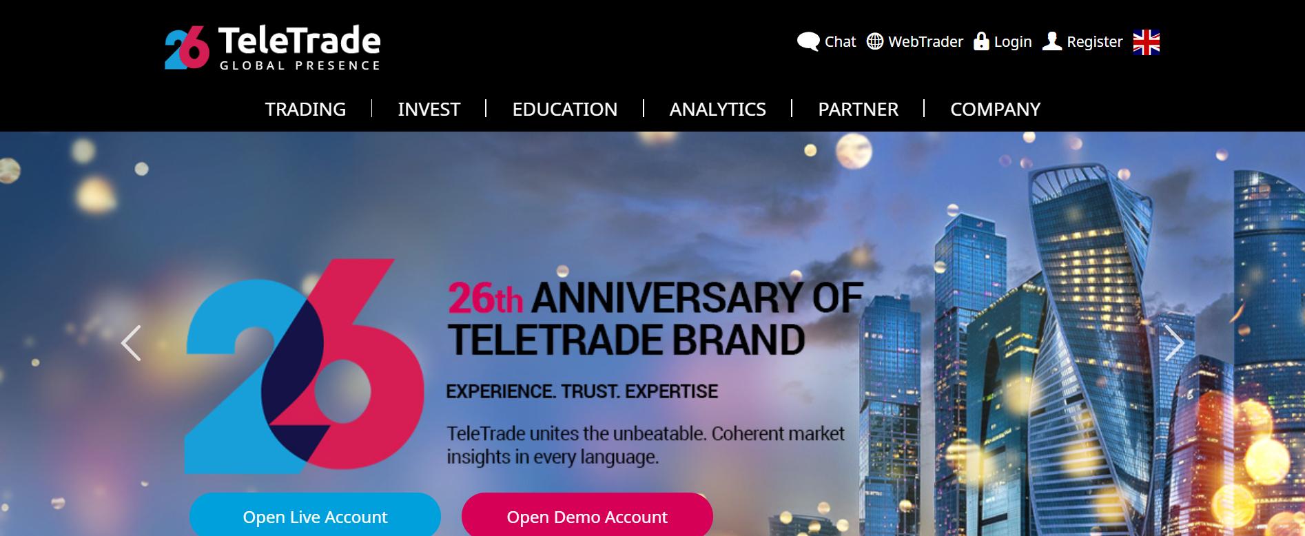 TeleTrade web