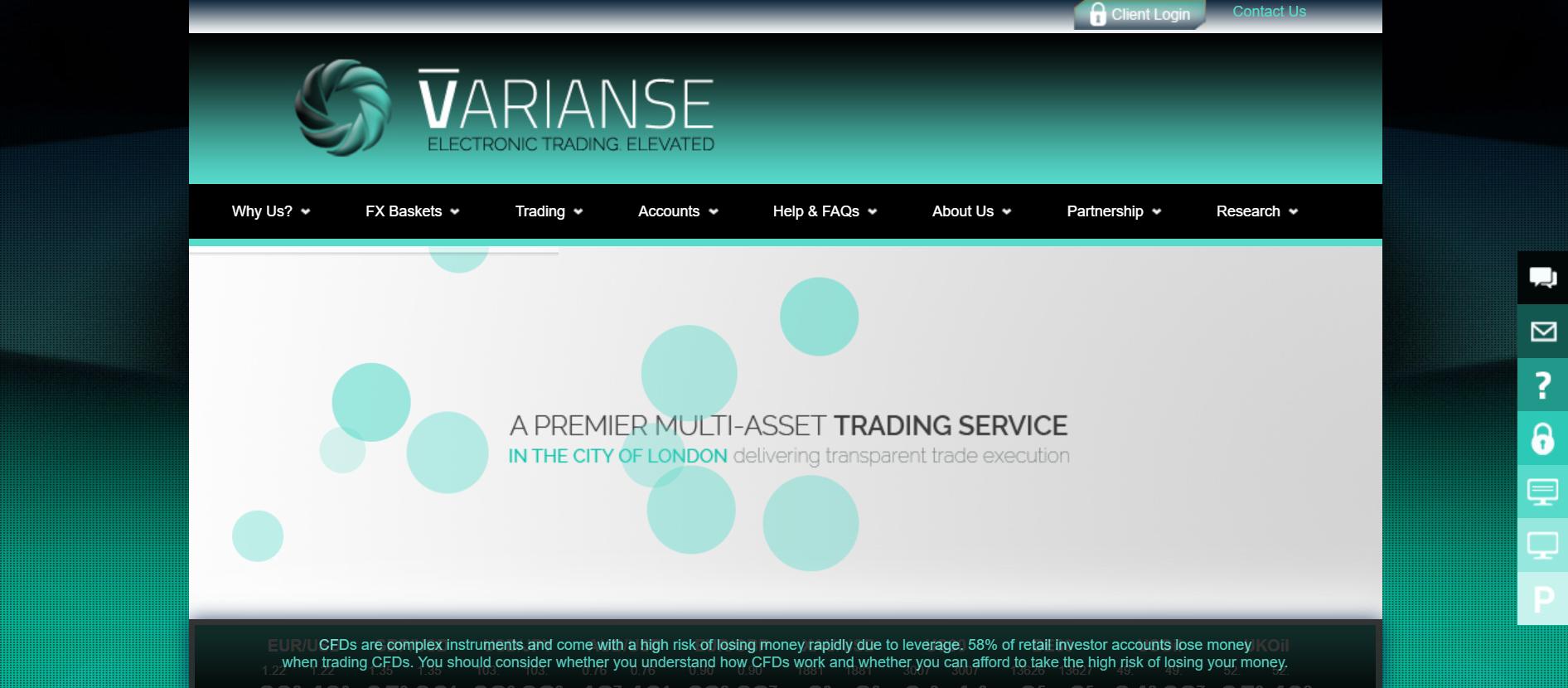 Varianse (VDX) website