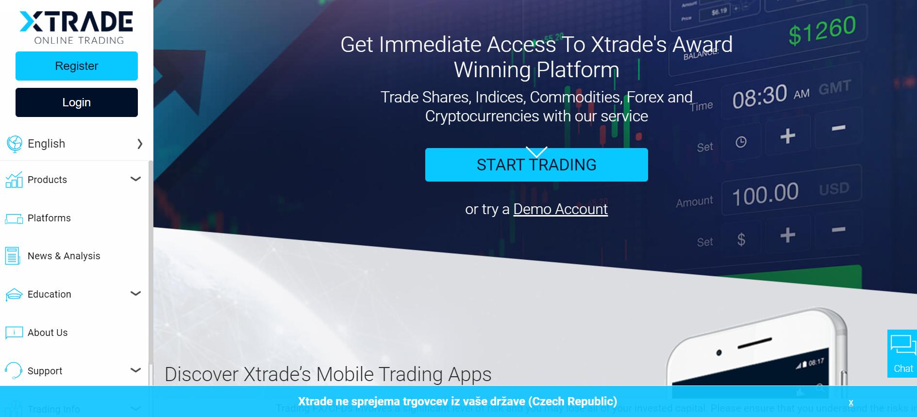 Xtrade web