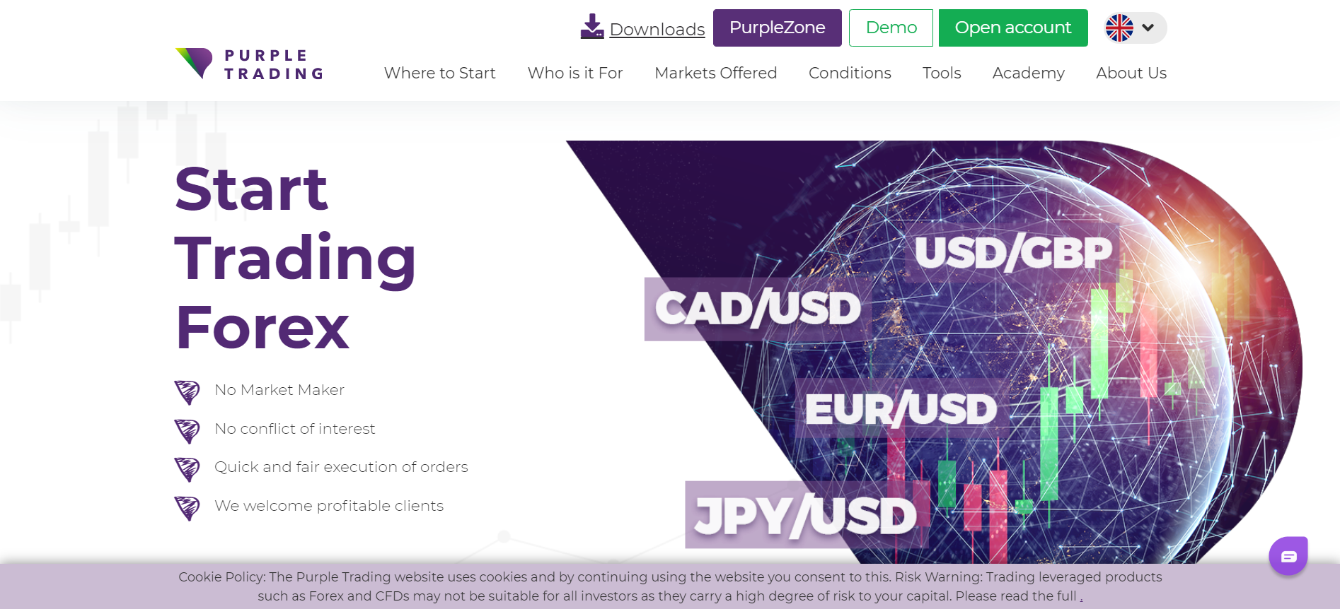 Purple Trading web