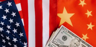 china usa flags