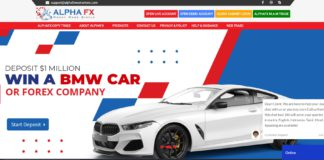 AlphaFx Markets homepage