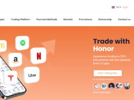 honorfx homepage