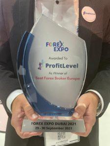 Forex Expo Dubai 2021, ProfitLevel, Best Forex Broker, award